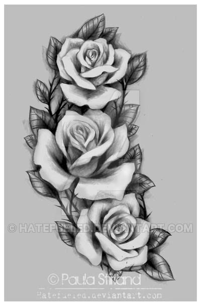 Roses for Amber by hatefueled | Tattoos | Rose drawing tattoo, Tattoo drawings, Rose tattoos