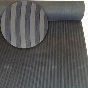 tapis de sol auto en caoutchouc noir epais stries larges With tapis caoutchouc epais