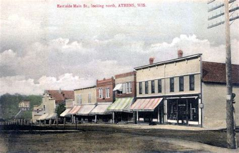 east side main street  north athens wisconsin