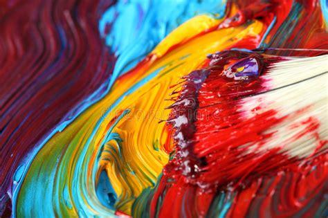 mixed paint with paintbrush stock illustration illustration of artist craft 5024947