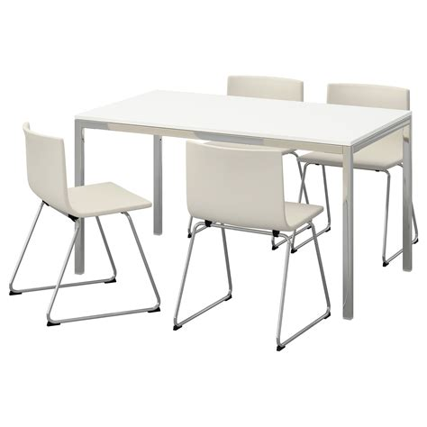 torsby bernhard table and 4 chairs high gloss white kavat