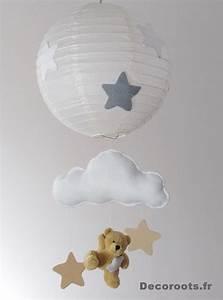 Lustre Bébé Fille : lustre suspension ours et nuage beige gris blanc mixte enfant b b luminaire enfant b b ~ Teatrodelosmanantiales.com Idées de Décoration