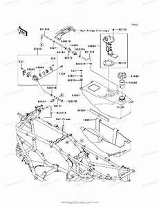 Kawasaki Atv 2004 Oem Parts Diagram For Fuel Tank