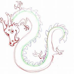 Drawn chinese dragon step by step easy - Pencil and in ...