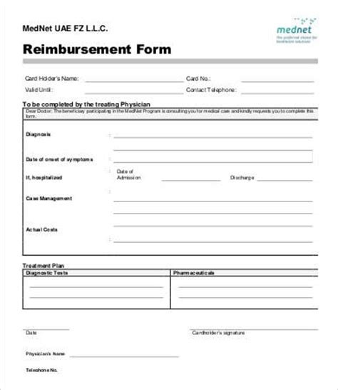 reimbursement form template 10 free excel pdf