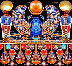 ancient egypt egyptian cobras snakes sun scarab beetles ...