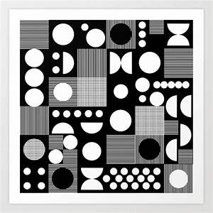 Black and white minimal pattern abstract scandi design ...