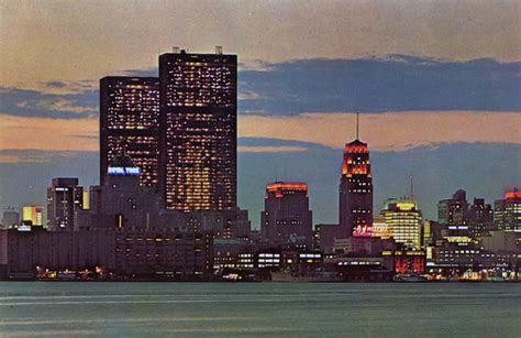 vintage colour photographs  toronto  night