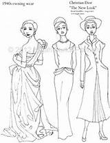 Coloring Pages Flapper Adult 1920s Books History 1940s Template Etsy Dressing Through Sheets Pioneer Sketch 1970s Similar Items Victorian sketch template