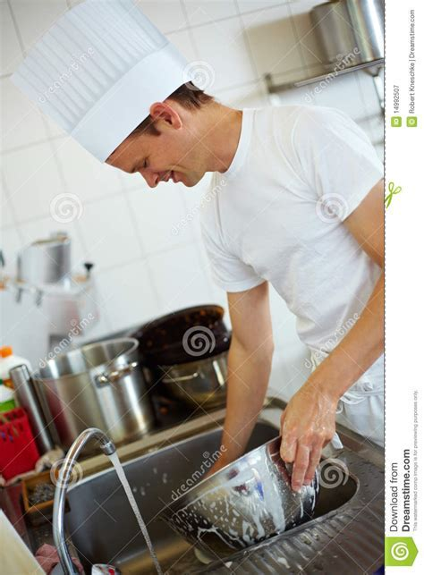 Chef Washing Up Royalty Free Stock Photography   Image