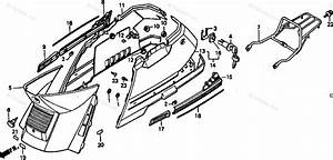 Honda Scooter 1988 Oem Parts Diagram For Center Cover