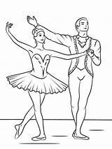 Ballerina Coloring Ballet Worksheet Dance Worksheetschool Beauty Sleeping sketch template