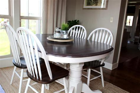 is chalk paint durable for kitchen table kitchen table makeover using chalk paint and wood stain