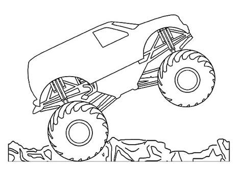 Zombie Monster Truck Coloring Page Pages