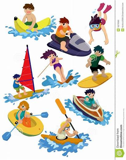 Water Cartoon Sport Clip Clipart Icon Vector