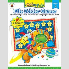Colorful File Folder Games, Grade 2 Skillbuilding Center Activities For Language Arts And Math