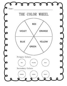 color wheel color mixing worksheets  english spanish