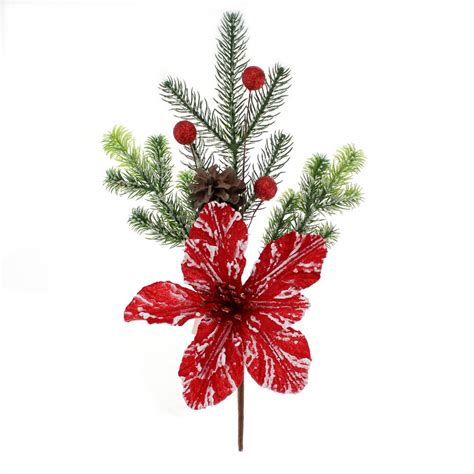 christmas floral pine needle picks