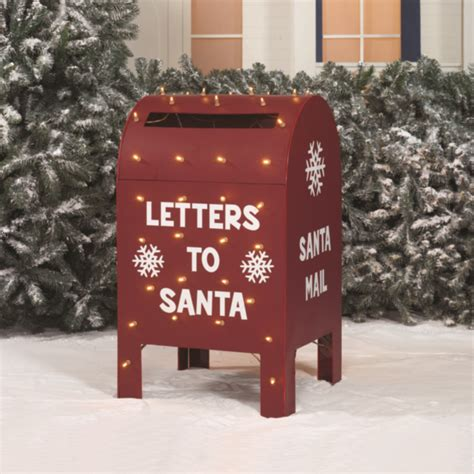 letters to santa mailbox 3 metallic letters to santa claus led lighted 23421