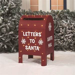 339 metallic christmas letters to santa claus led lighted With letters to santa mailbox green