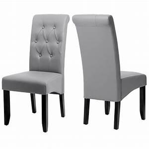 chaise salle a manger salon laredo facon cuir bycast neuf With salle À manger contemporaineavec chaises dossier haut salle À manger