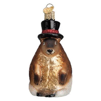 groundhog ornament old world christmas