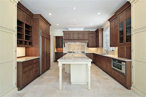 wide kitchen island 43 kitchens with extensive wood throughout 1101