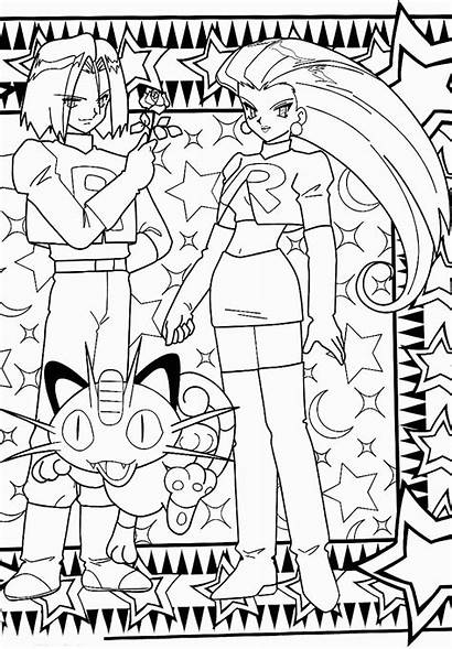 Pokemon Coloring Pages Printable Team Rocket Colouring