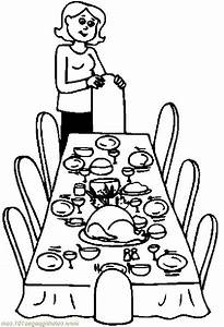 thanksgiving table clipart black and white - Clipground