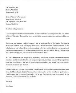 Cover Letter For Support Assistant by Administrative Assistant Cover Letter Template Business