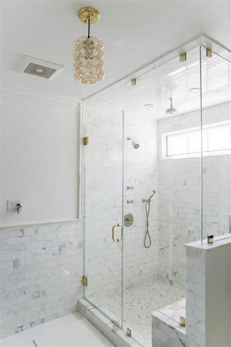bathroom  marble wainscoting  marble pencil rail