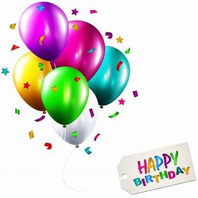 Balloons Birthday Happy Clip Clipart Globos Balloon