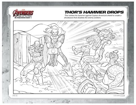 marvel avengers coloring page thor s hammer drops mama