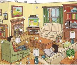 in the livingroom living room vocabulary lesson pdf