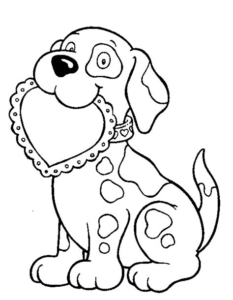 puppy valentine coloring page zentangle  coloring