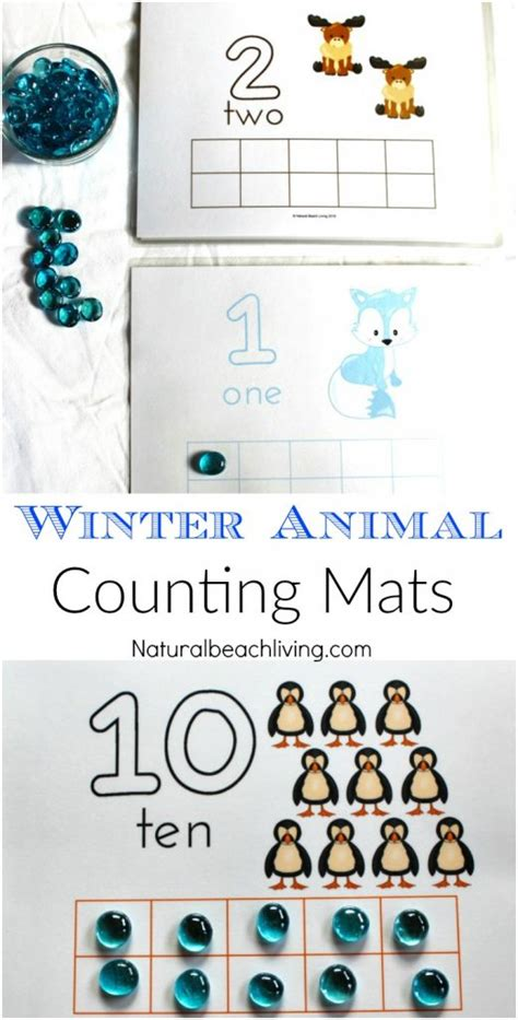35 winter preschool themes and lesson plans 653 | number playdough mats pin 520x1024
