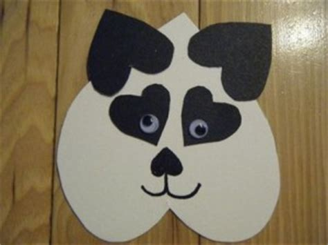animal craft for s day crafts and 350 | heart panda craft 300x225