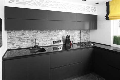 cocinas negras  cocinas elegantes modernas unicas