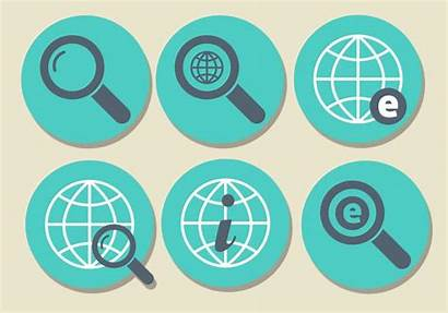 Internet Icon Vector Explorer Icons Glass Magnifying