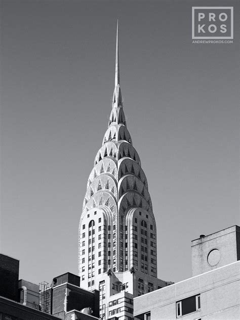Chrysler Building Spire With Rooftops Fine Art Photo By