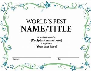 word certificate template 51 free download samples With free funny award certificate templates for word
