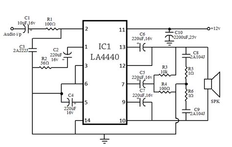 Stereo Bridge Amplifier Circuit Using