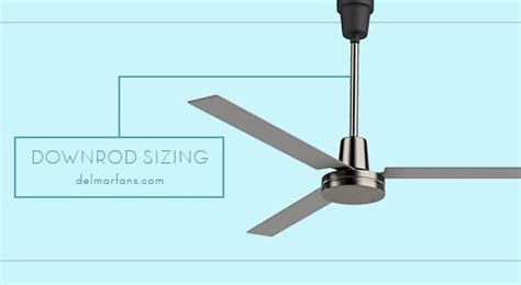 how do you measure a ceiling fan how to choose the right ceiling fan downrod length del