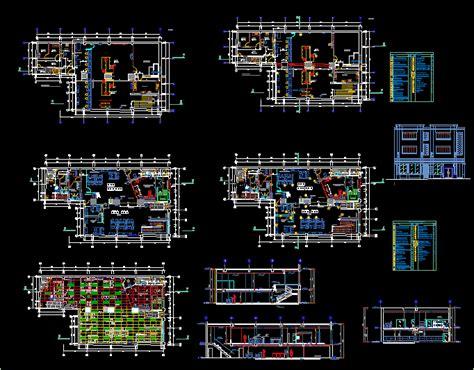 bureau dwg engineering et architecture plan autocad agence bancaire dwg