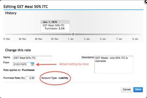 QBO Canada Sales Tax Setup - Meals