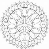 Afkomstig Mandala Kleurplaten sketch template