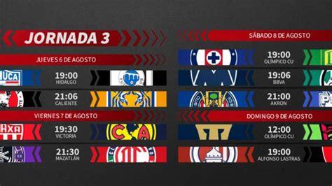 Liga MX: Fechas y horarios del Guardianes 2020, Jornada 3 ...