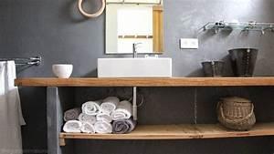 Plan De Travail Salle De Bain Bois : quel plan de travail choisir pour votre salle de bain nos conseils d co ~ Teatrodelosmanantiales.com Idées de Décoration
