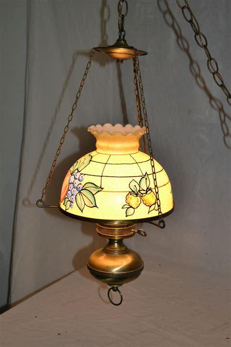 style ceiling light fixture vtg antique style l stain glass electric light