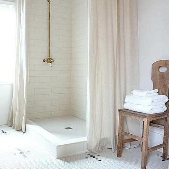 corner walk  shower   linen shower curtains